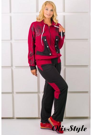 Спортивный костюм Нейли (бордовый)   оптовая цена