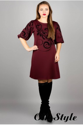 Платье Каролина (бордовый) оптовая цена