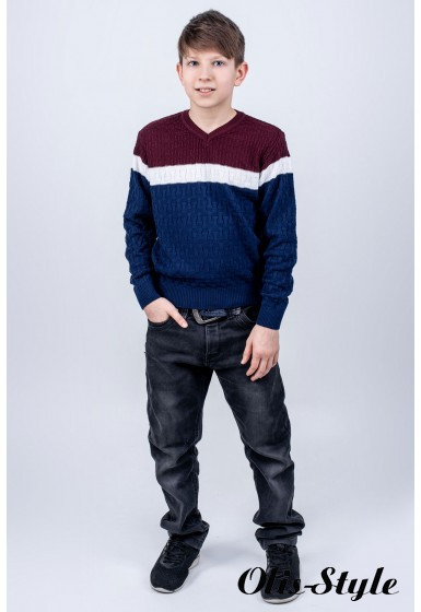 Детский свитер Леша (синий)