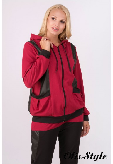 Спортивный костюм Шарлин (бордовый)   оптовая цена
