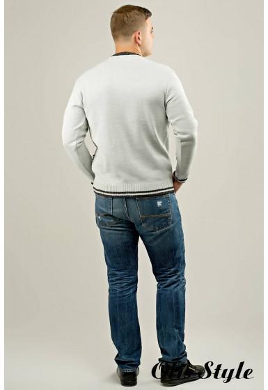 Мужской свитер Гомер (светло-серый) оптовая цена