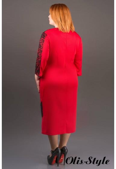 Платье Грация (красный) Оптовая цена