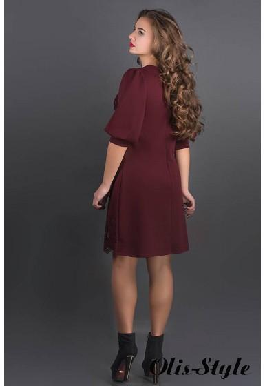 Платье Айсель (бордовый) Оптовая цена