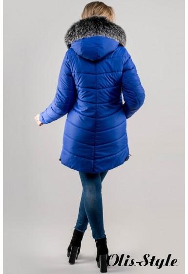 Зимняя куртка Бриана (электрик серый мех) Оптовая цена