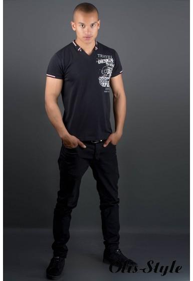 Мужская футболка Грэт (черный) оптовая цена