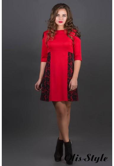 Платье Оника (красный) Оптовая цена