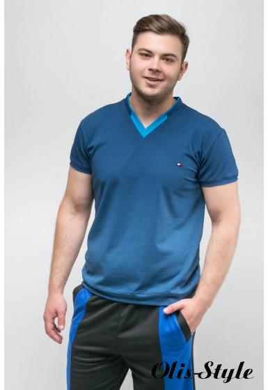 Мужская футболка Томи (синий) оптовая цена