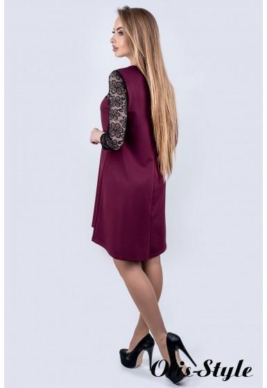 Платье Сакура (бордовый) Оптовая цена