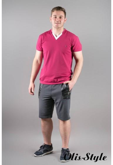 Мужская футболка Томи (бордовый)