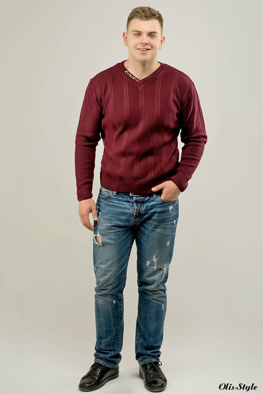 Мужской свитер Дмитрий (бордовый) оптовая цена