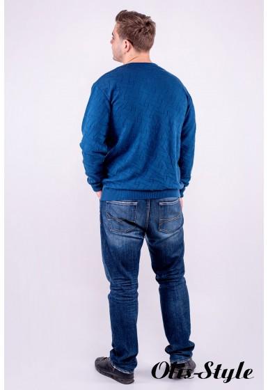 Мужской свитер Гриша (бирюза) оптовая цена