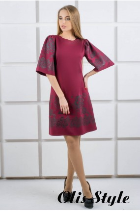 Платье Марлет (бордовый) Оптовая цена