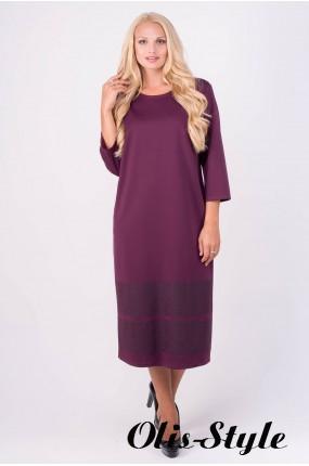 Платье Бейла (бордовый) Оптовая цена
