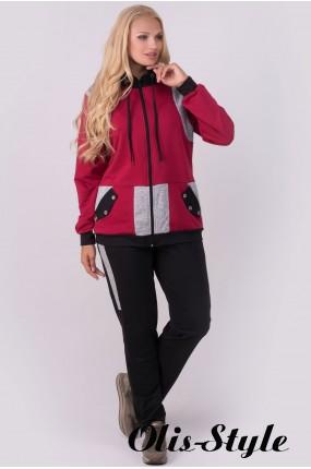 Спортивный костюм Касиди (бордовый)   оптовая цена
