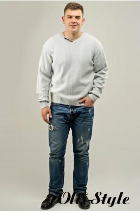 Мужской свитер Дмитрий (светло-серый) оптовая цена