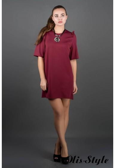 Платье Блуми (бордовый) Оптовая цена