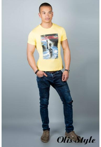 Мужская футболка (желтая№33)   оптовая цена