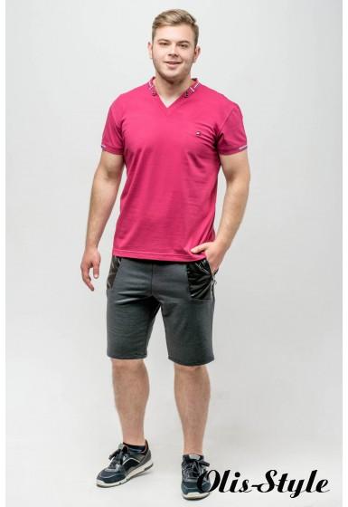 Мужская футболка Грэй (бордовый)