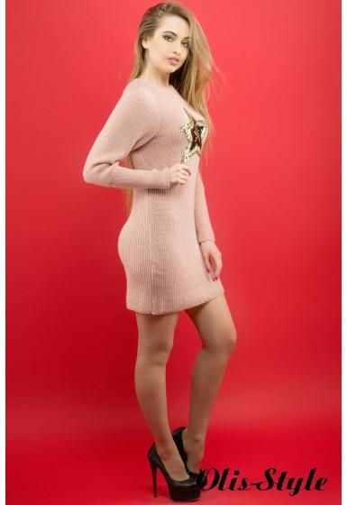Платье Люси (розовый) Оптовая цена
