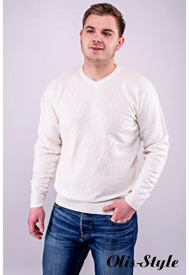 Мужской свитер Гриша (белый) оптовая цена