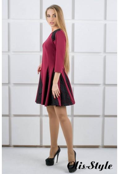 Платье Хэлли (бордовый) Оптовая цена