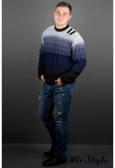 Мужской свитер Евгений (синий) оптовая цена