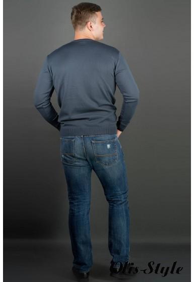 Мужской свитер Никки (серый) тонкий мысик оптовая цена