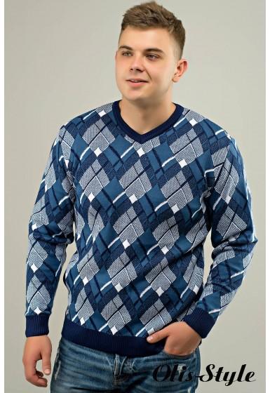 Мужской свитер Доминик (голубой) оптовая цена