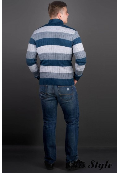 Мужской свитер Рубин полоска (синий) оптовая цена