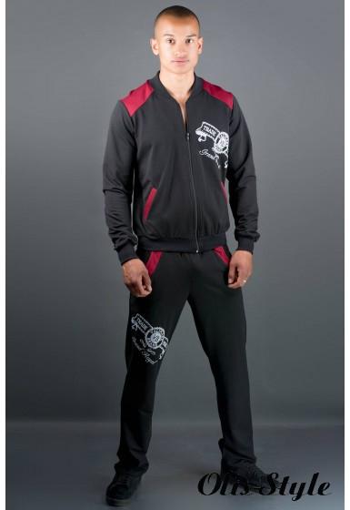 Мужской спортивный костюм Митчел (бордовый) Оптовая Цена