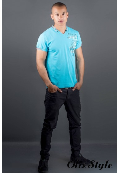 Мужская футболка Грэт (голубой) оптовая цена