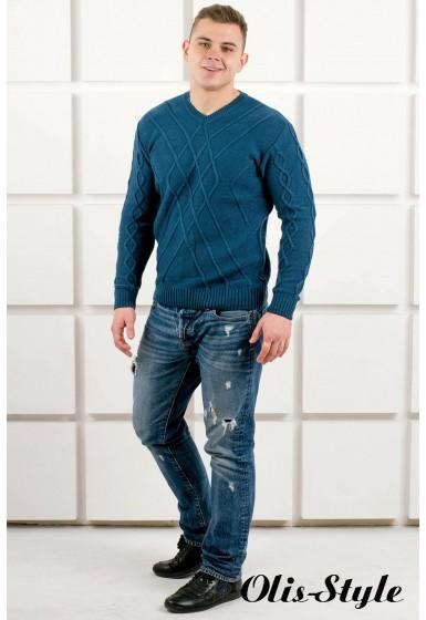 Мужской свитер Василий (бирюза) оптовая цена