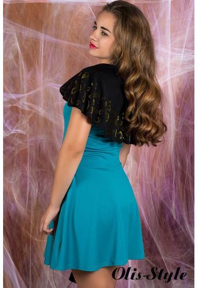 Платье Мадонна (бирюзовый) оптовая цена
