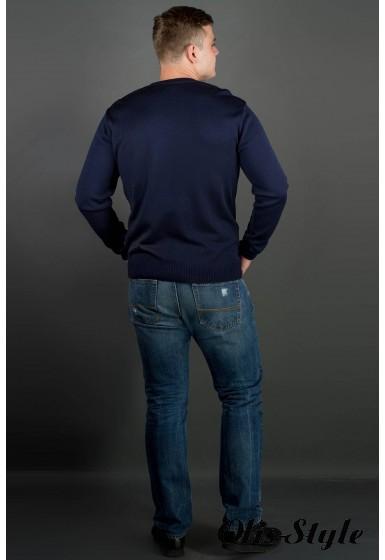 Мужской свитер Никки (синий) тонкий мысик оптовая цена