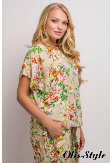 Костюм Лита (бежевый цветы)     оптовая цена