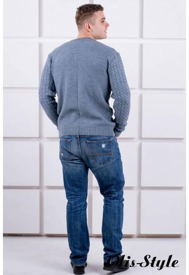 Мужской свитер Андрей (синий) оптовая цена