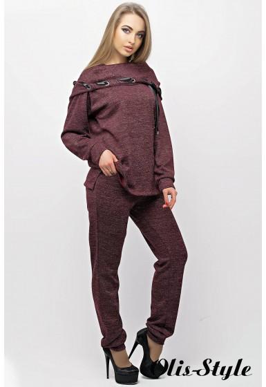 Спортивный костюм Крокус (бордовый) Оптовая цена