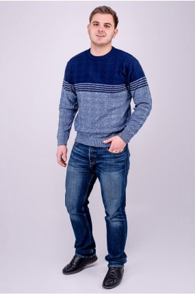 Мужской свитер Афанасий (синий) оптовая цена