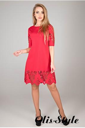 Платье Фисента (красный) Оптовая цена