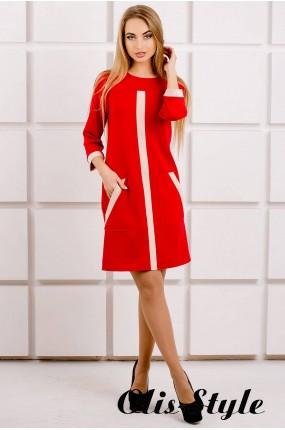 Платье Белинда (красный) Оптовая цена
