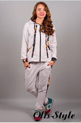Спортивный костюм Надин (белый)  оптовая цена
