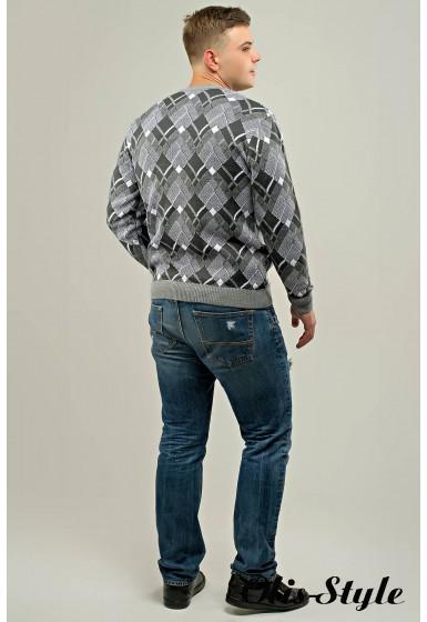 Мужской свитер Доминик (серый) оптовая цена