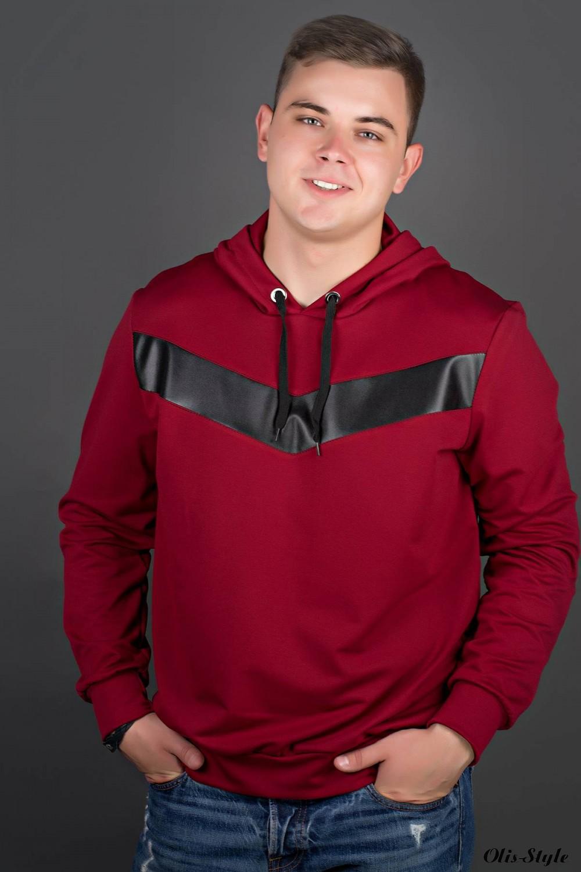Мужская толстовка Ирланда (бордовый) оптовая цена