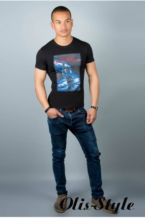 Мужская футболка (черная№32)   оптовая цена