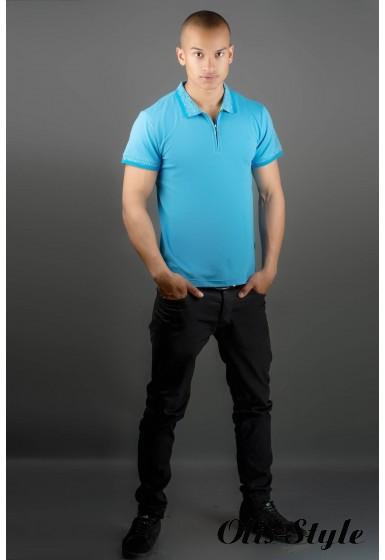 Мужская футболка Тимур (голубой) оптовая цена