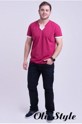 Мужская футболка Томи (бордовый) оптовая цена