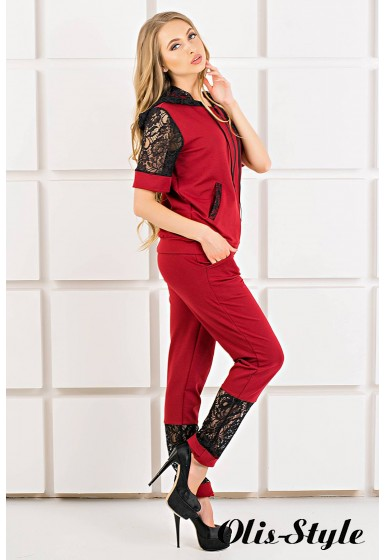 Спортивный костюм Рошаль (бордовый) Оптовая цена