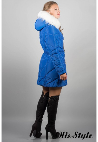 Зимняя куртка Дорри (электрик белый мех)  ОПТОВАЯ ЦЕНА