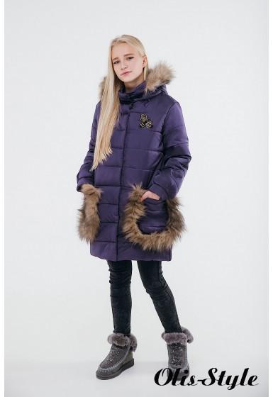 Зимняя детская куртка Ангелия (фиолетовый) Оптовая цена
