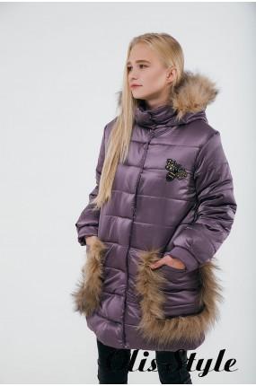 Зимняя детская куртка Ангелия (сиреневый) Оптовая цена